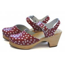 Polka dots closed toe sandals